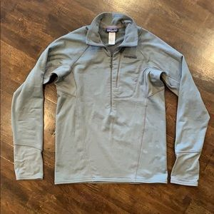 Patagonia R1 Pullover Feather Gray Sz Mens Small